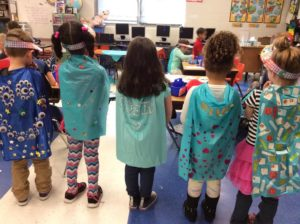 Students made capes to celebrate 100th day of school